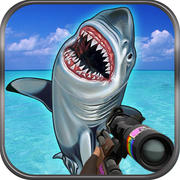 Flying Hungry Shark Endless Shooting Sniper Games