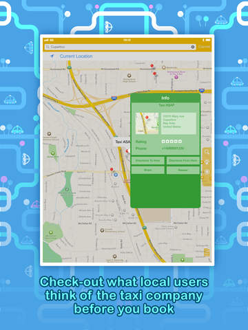 Call a Taxi - Instantly find a taxi-cab, anytime, anywhere. Screenshot