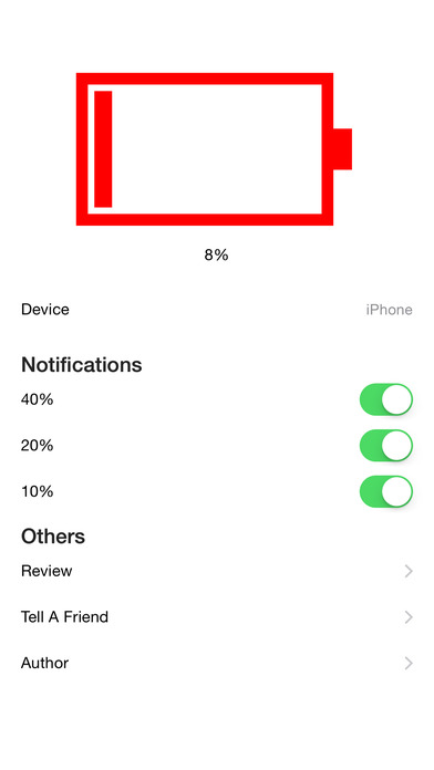 Battery Watch for Apple Watch Screenshot