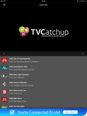 TVCatchup - Watch Free Live TV IPA Cracked for iOS Free Download