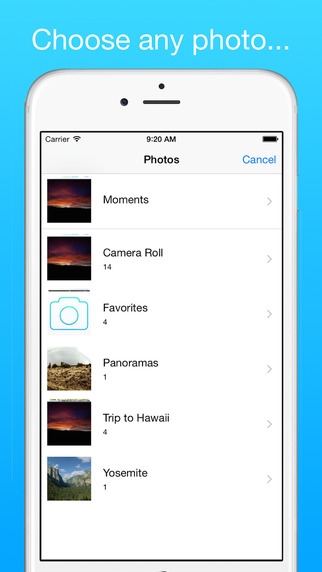 NoLocation - Easily remove EXIF data from your photos Screenshot
