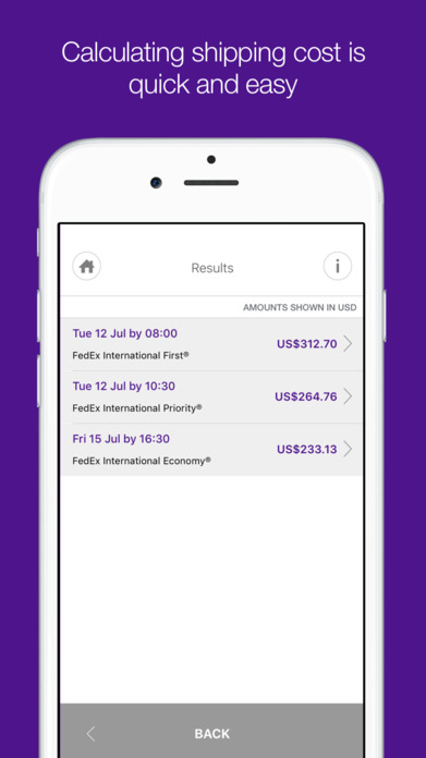 FedEx Screenshot