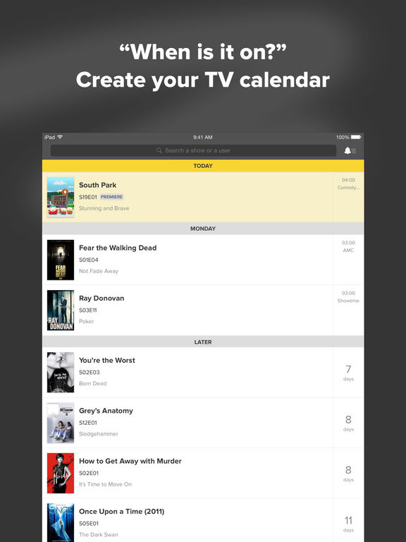 TVShow Time - TV Show Tracker for TV Addicts Screenshot