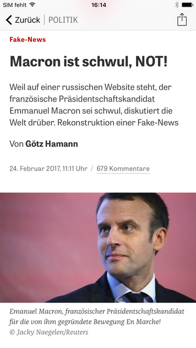 ZEIT ONLINE Screenshot
