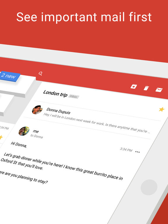 Gmail - email by Google: secure, fast & organised Screenshot