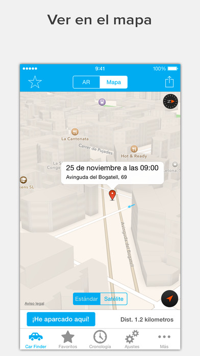 Encuentra tu coche con AR: Augmented Car Finder Screenshot
