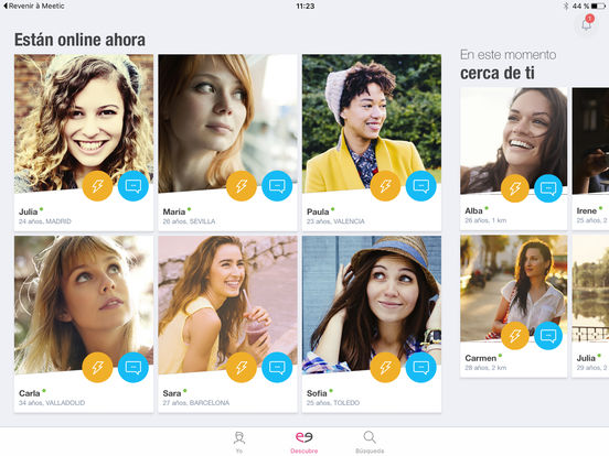 Meetic - los servicios de dating más eficientes Screenshot