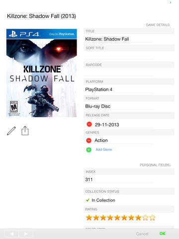 CLZ Games - Video Game Collection Database Screenshot