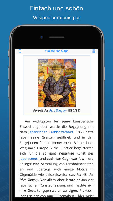 WikiLinks ‐ Die intelligente App für Wikipedia Screenshot