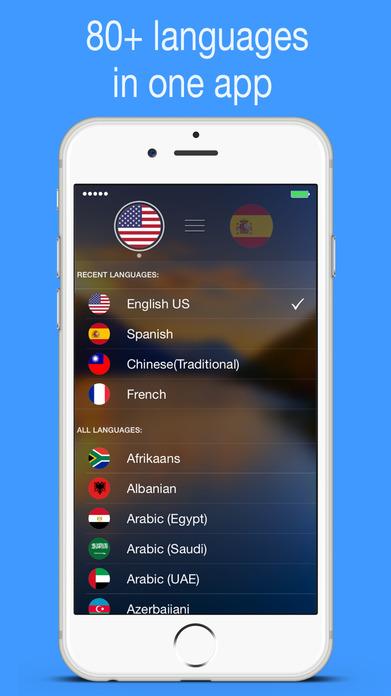 myTranslator.io: Voice and Text Translator Screenshot