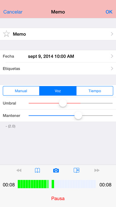 Audio Memos - El Grabador de Voz Screenshot