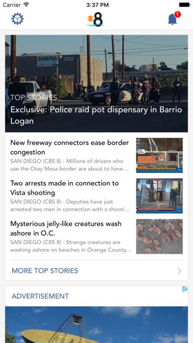 CBS 8 San Diego News Screenshot