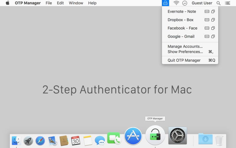 OTP Manager - Two-step authenticator | Free Mac Software