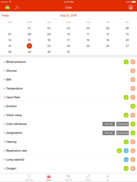icare health monitor blutdruck messen im app store. Black Bedroom Furniture Sets. Home Design Ideas