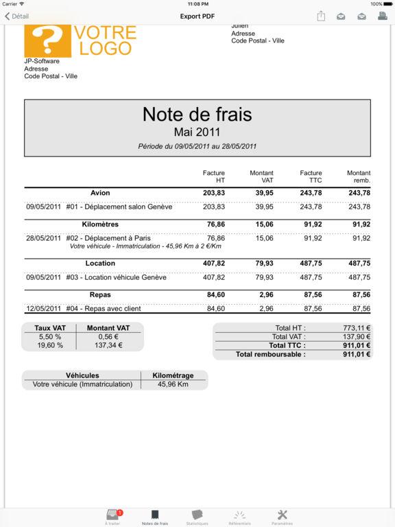 Ipa Mes Notes De Frais Suivez Vos Remboursements 3 9 12
