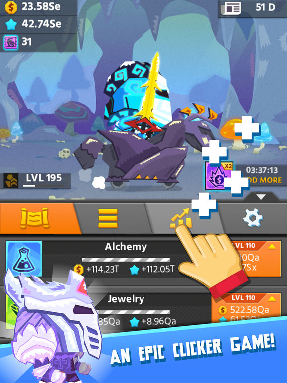 Hero Simulator: click game and idle adventure by SPIL Games