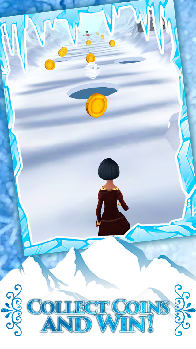Frozen Princess Run 3D Infinite Runner Game For Girly Girls With New Fun Games FREE Screenshot