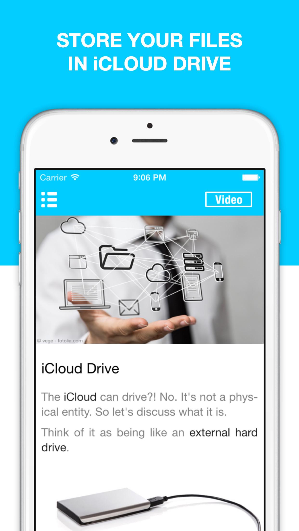 Guide for iCloud & iCloud Drive - Backup & Restore your Photos Screenshot