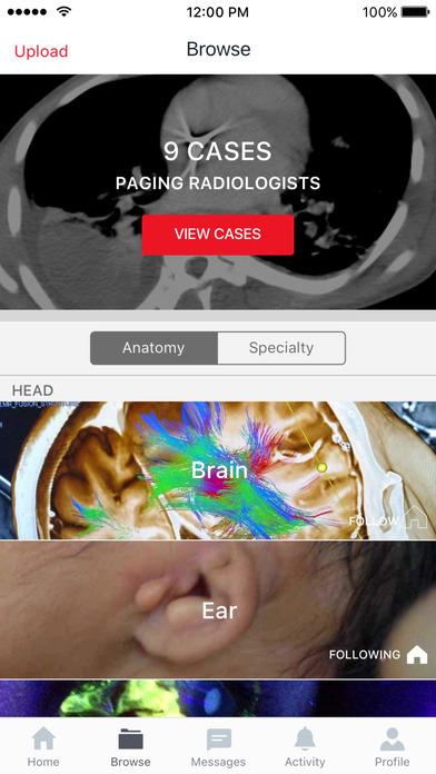 Figure 1 - Medical Cases for Healthcare Professionals Screenshot