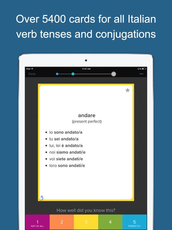Learn Italian Verbs Screenshots