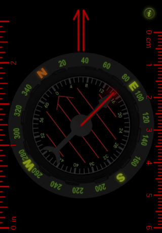 Orienteering Compass Screenshot