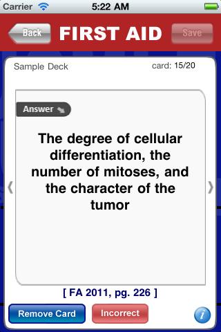 USMLERx Step 1 2011 Flash Cards Medical Education free app for