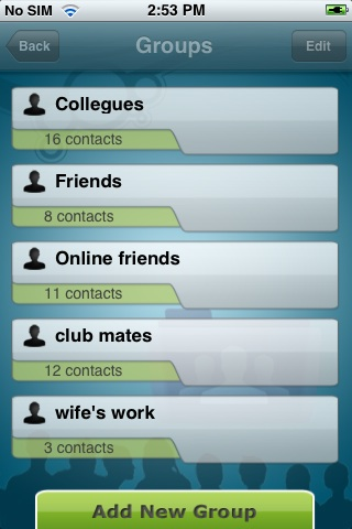 iContact!   (Schedule sms, email, calls) Screenshot