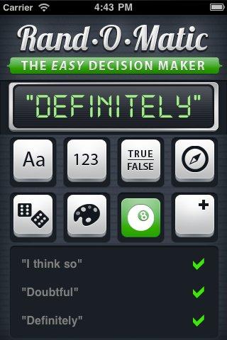 Rand-O-Matic: The Easy Decision Maker Screenshot