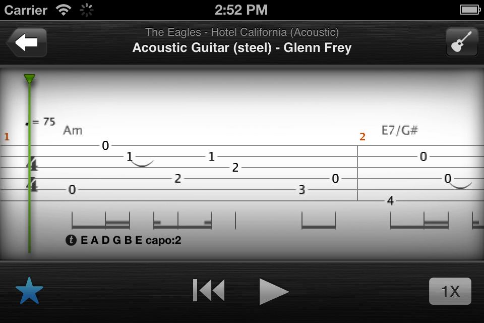 How to read guitar tabs songsterr
