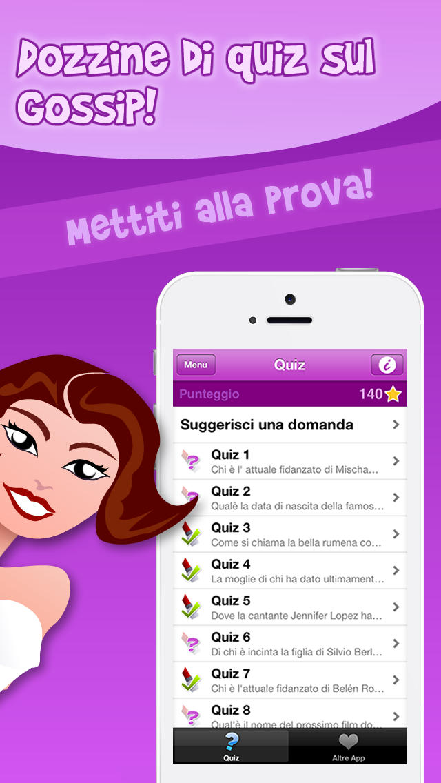 Gossip Quiz Screenshot on iOS