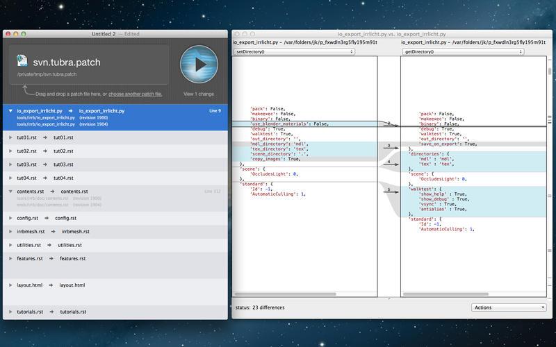 Mac diff two folders