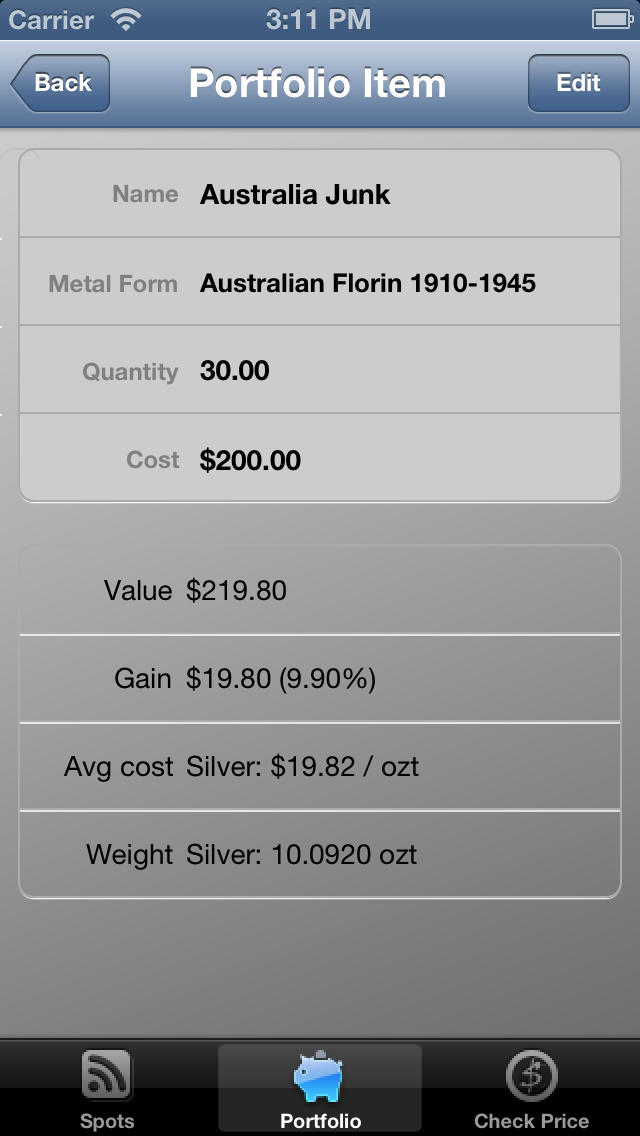 Screenshot For Junk And Silver Coin Calculator Lite In United States