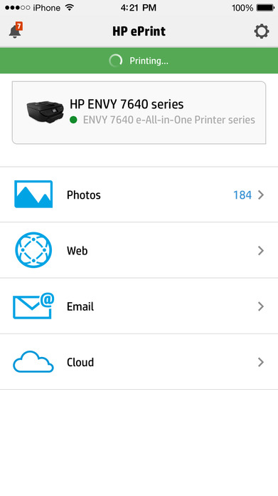 HP ePrint Screenshot