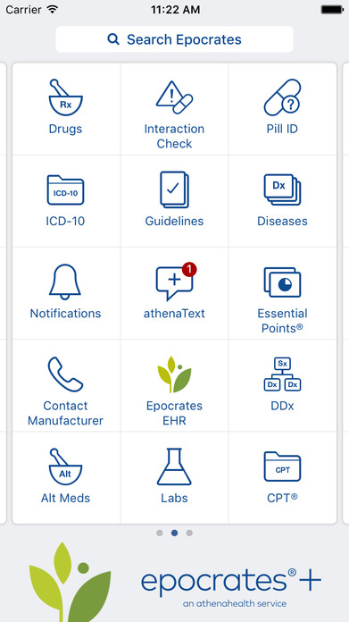 Epocrates Reference Tools for Healthcare Providers Screenshot
