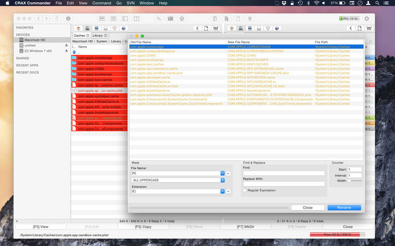 CRAX Commander - The Ultimate Files Management Tool Screenshot