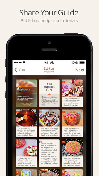 Snapguide - How-tos, Recipes, Fashion, Crafts, iPhone Tips and Lifehacks Screenshot