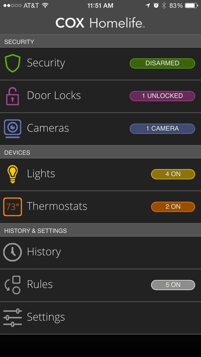 Cox Home Security Iphone App