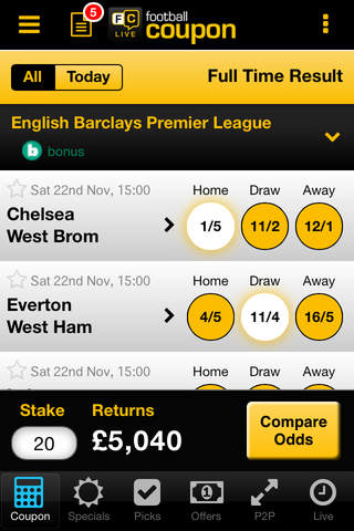 Football Coupon betting - Bet Tracking & Live Scores - appPicker