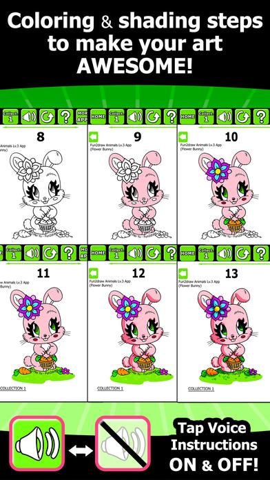 Image of: Arctic Fox Fun2draw Animals Lv3 How To Draw Color Stylish Pretty Kawaii Animal Characters Screenshot Appsftw Fun2draw Animals Lv3 How To Draw Color Stylish Pretty Kawaii