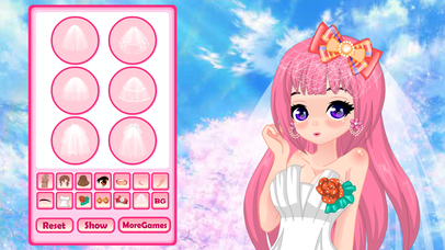 Wedding Anime Avatar - colorgirlgames Screenshot on iOS