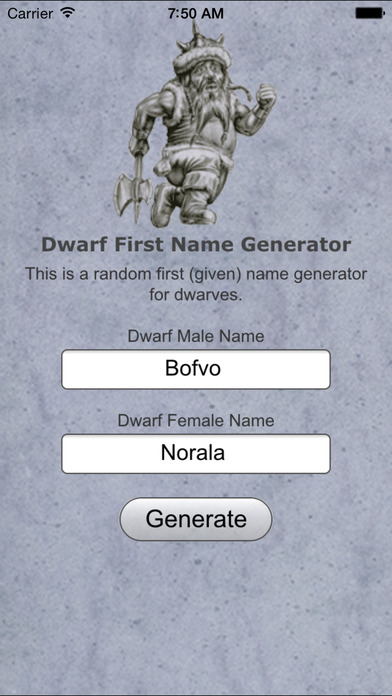 Dwarf Name Generator Wow