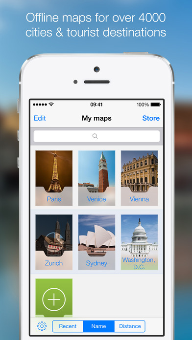 OffMaps 2 - Offline Maps for Paris, London, Berlin, New York ... Screenshot