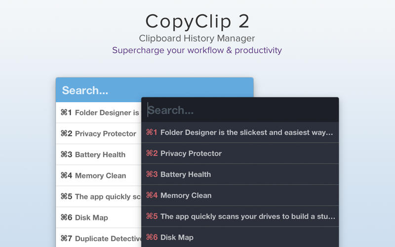 CopyClip 2 剪贴板管理工具[Mac][¥30→¥18]丨反斗软件值得买