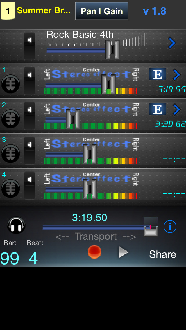 Multitrack app for android