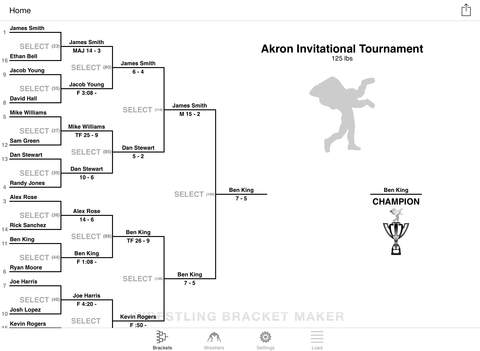 wrestling bracket maker hd ipad app app decide