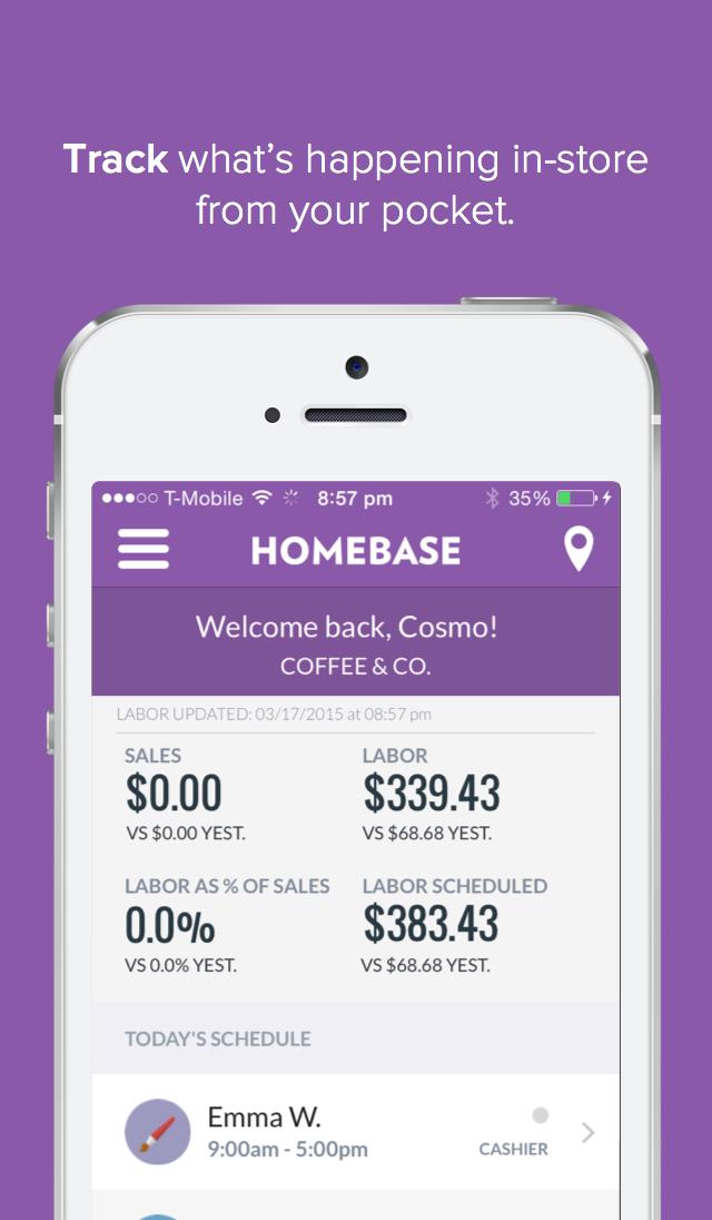 Homebase Screenshot
