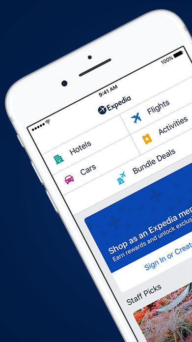 Expedia Hotels, Flights & Vacation Package Deals Screenshot