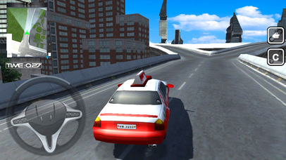 Real Taxi Car Driver : 3D Simulator 2017 Screenshot on iOS
