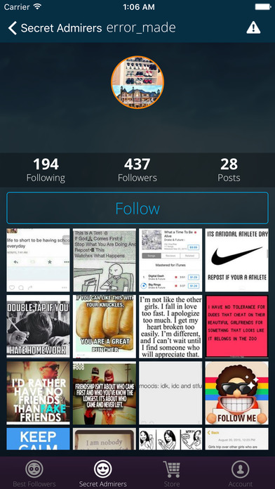 Who Cares About My Profile for Instagram - AppRecs