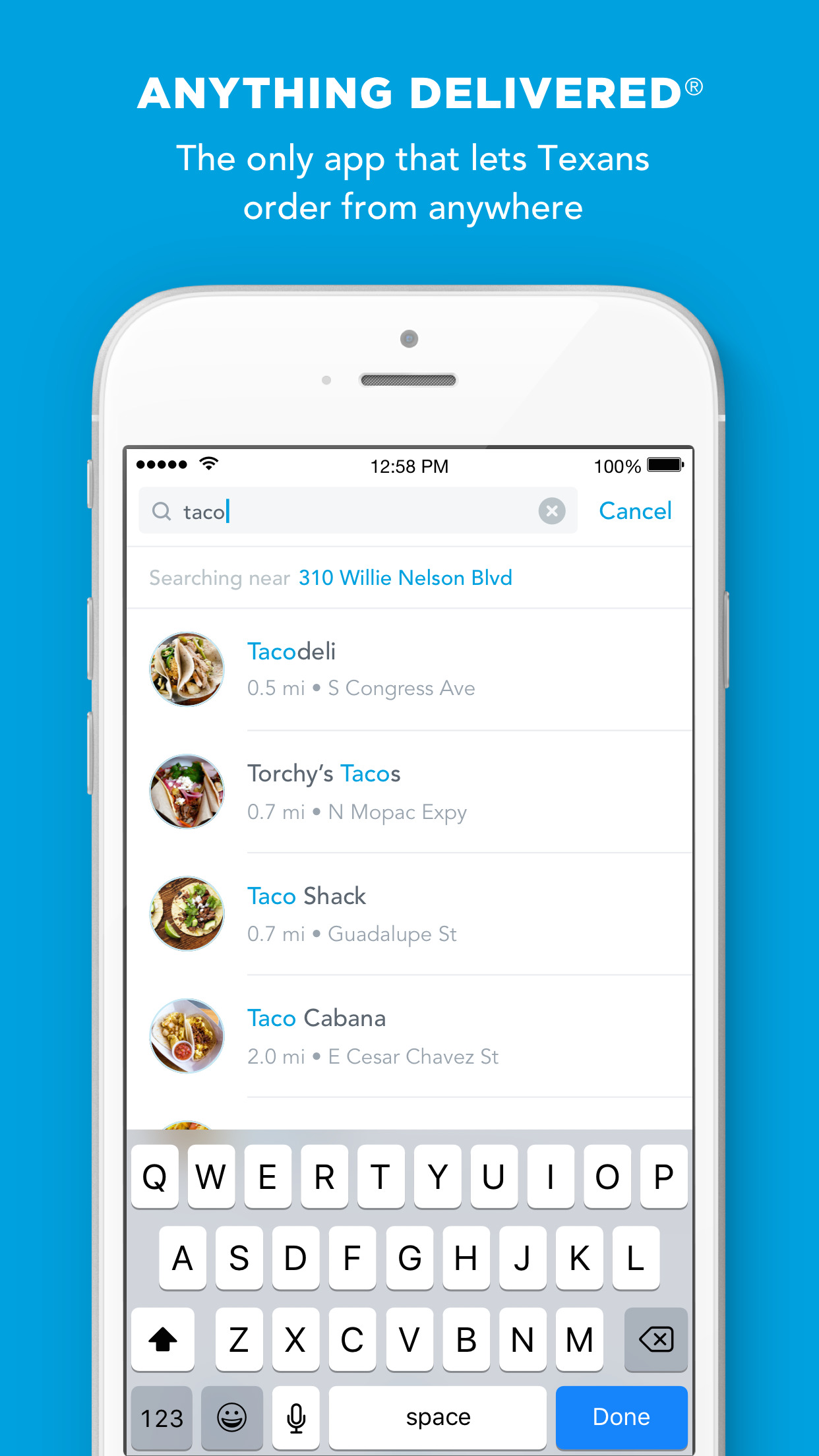 Favor - Food Delivery from Any Restaurant Screenshot